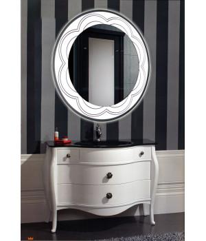 Зеркало в ванную комнату с подсветкой светодиодной лентой Венеция